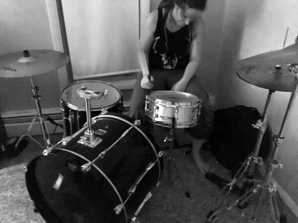 Cultic - Rebecca Setting Up Drums