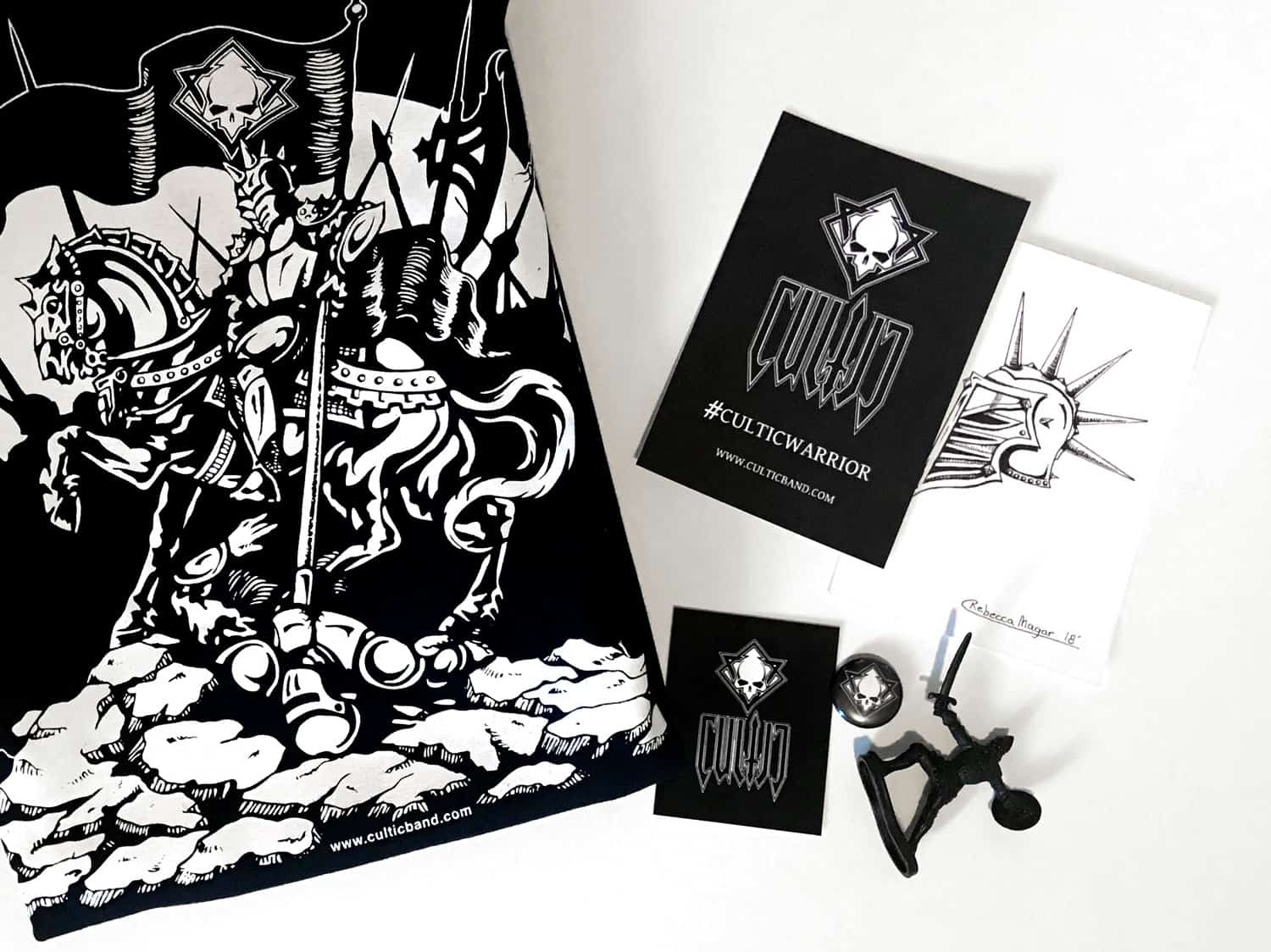 Cultic Warrior Conqueror T-Shirt Package & Weapons