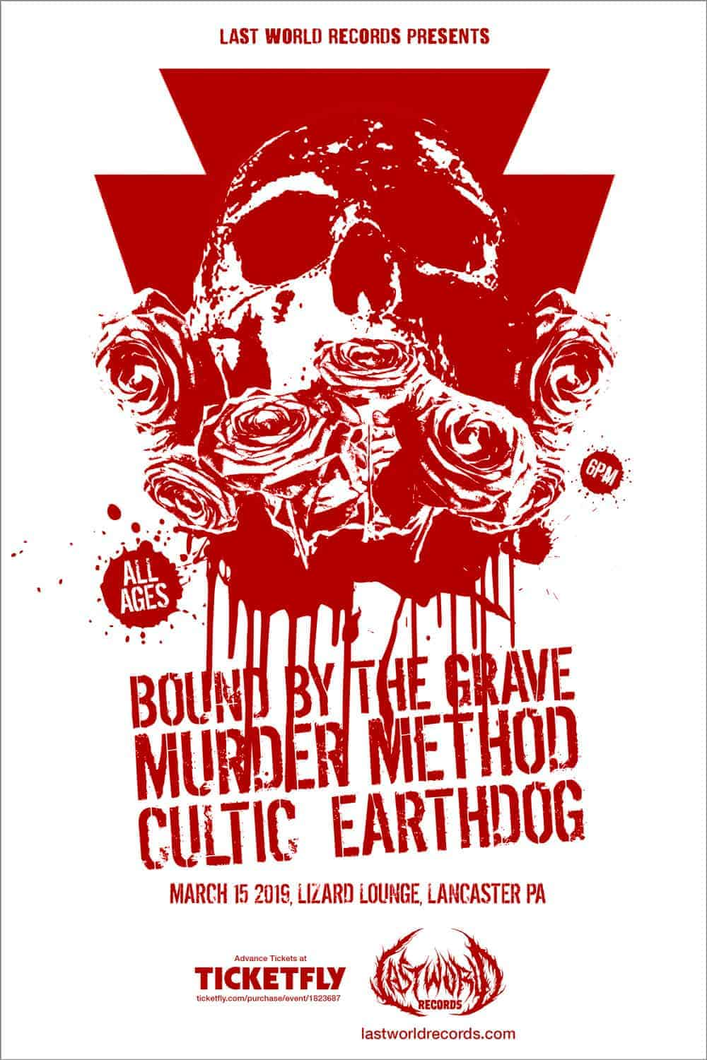 Bound by the Grave, Murder Method, Cultic & Earthdog live in Lancaster, PA - March 15, 2019