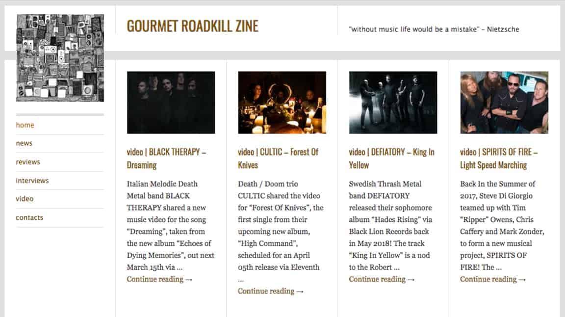 Gourmet Roadkill Zine