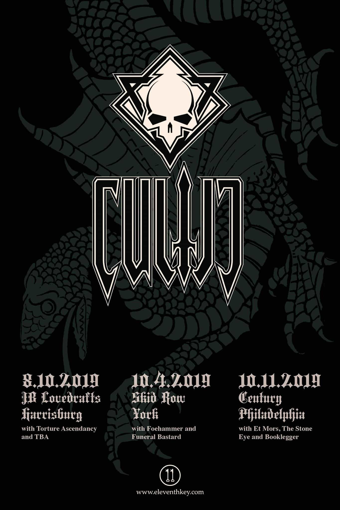 Cultic Summer/Fall Tour Flyer 2019