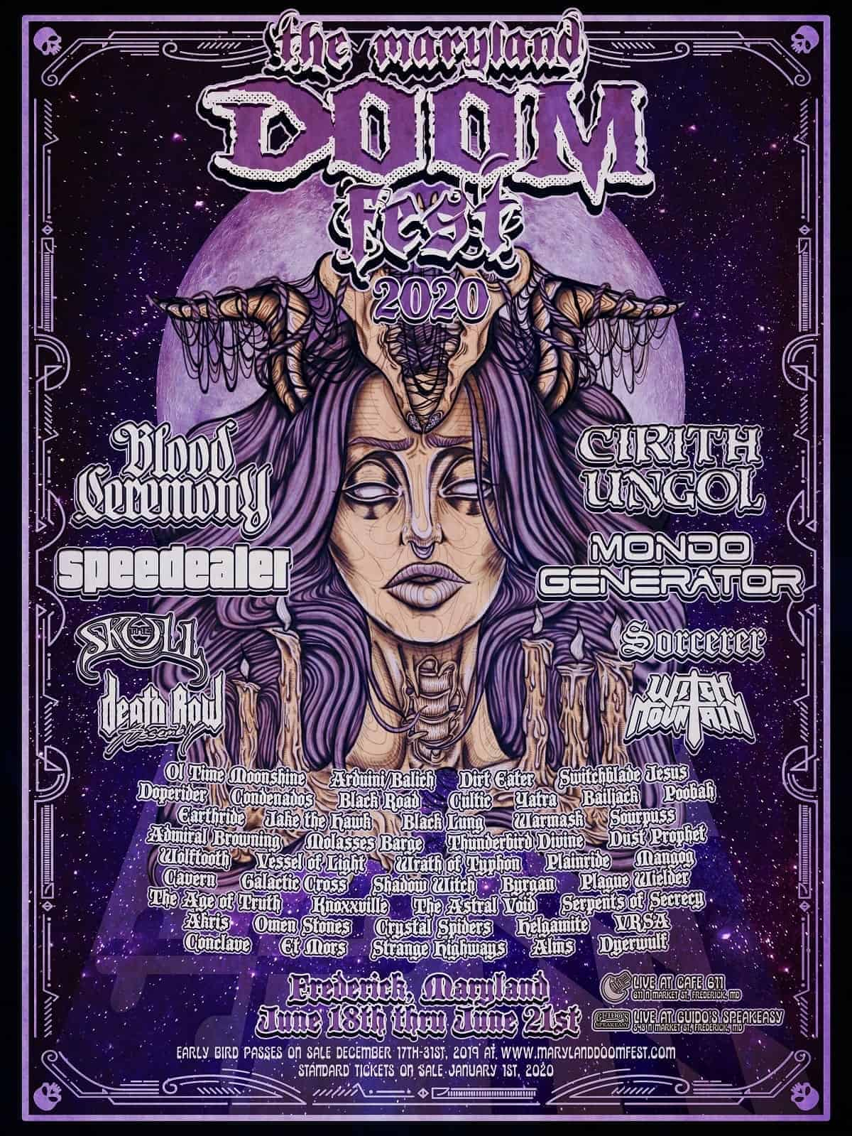 The Maryland Doom Fest 2020 Poster