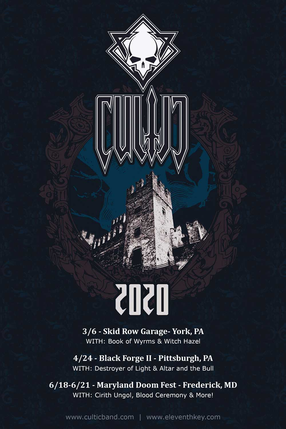 Cultic 2020 Show Dates Heavy Metal Flyer