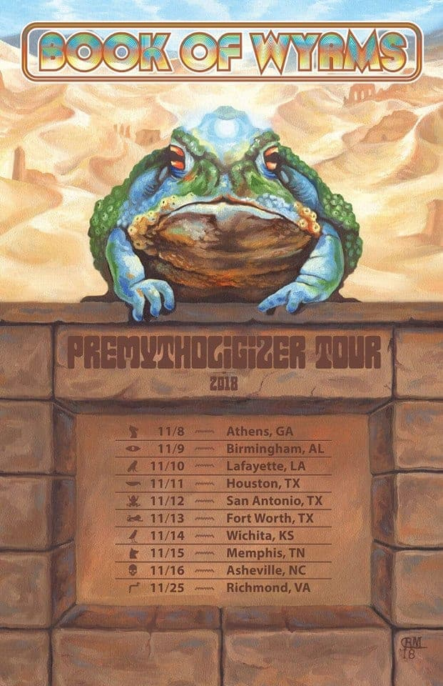 Book of Wyrms - Dust Toad Flyer Art by Rebecca Magar - Cultic