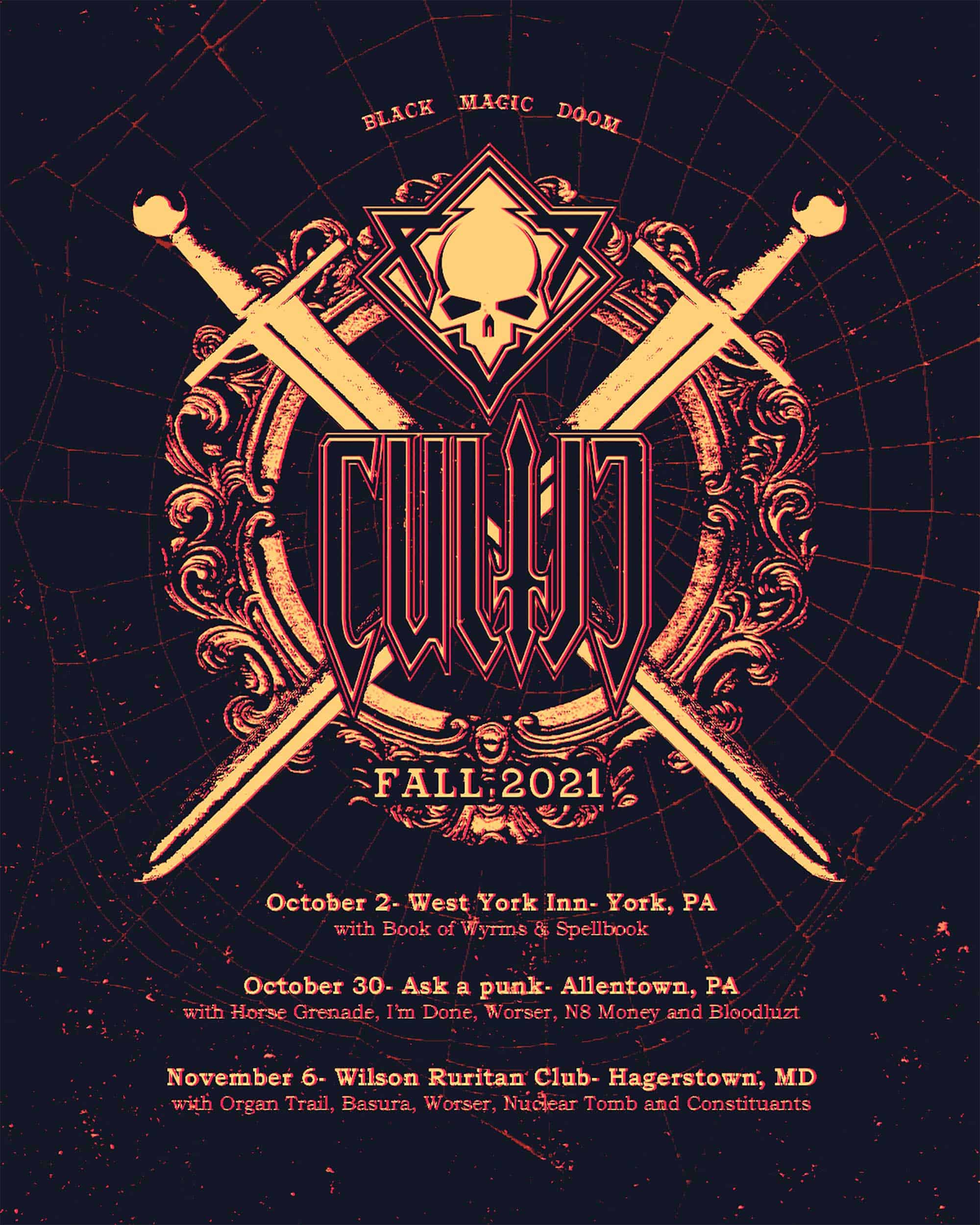 Cultic - 2021 Fall Tour Flyer